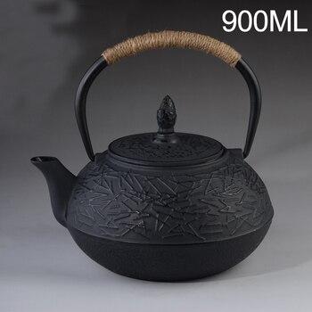 900 ML obsada żelazny imbryk zestaw japoński czajnik czajnik Tetsubin Drinkware 900 ml narzędzia Kung Fu durszlak ze stali nierdzewnej czajnik do herbaty