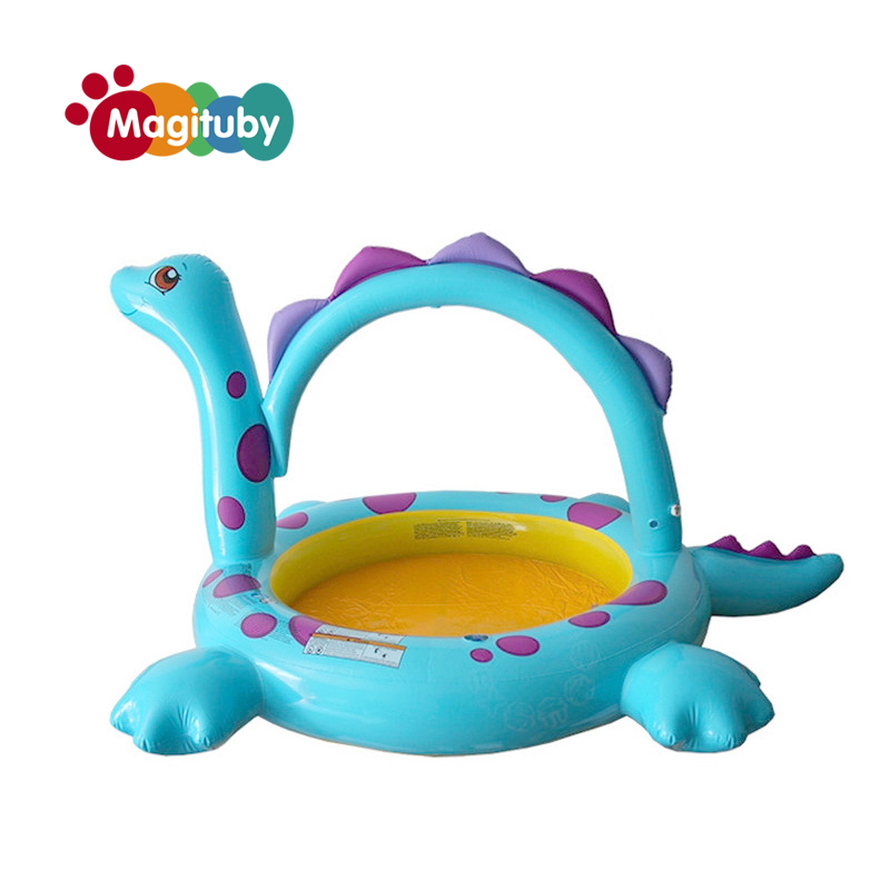 229*165*117cm Baby Inflatable Piscina Infant Fashion Large Outdoor Swimming Pool Children Dinosaur Paddling Pool S1016 dual slide portable baby swimming pool pvc inflatable pool babies child eco friendly piscina transparent infant swimming pools