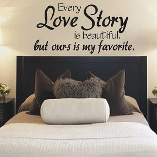 Every Love Story Is Beautiful....Vinyl Wall Worlds Quotes Wall Love Wall