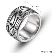 YaHui mens rings stainless steel steerings for men fashion jewelry black ring biker titanium