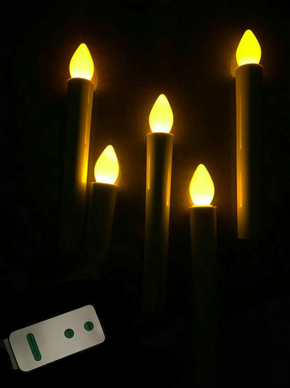 Remote Controlled Led Taper Candle Sticks Wedding Table