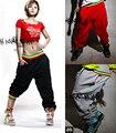 Популярные Hip Hop Dance Костюмы Широкую Ногу Женщины Брюки Плюс Размер широкие Брюки Унисекс Девушка И Мальчик Свободные Шаровары 3 цвета Брюки женский