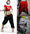 Popular hip hop trajes de dança calças largas nas pernas das mulheres plus size Calças largas Unisex Da Menina E do Menino Harem Pants Soltas 3 Calças de cor feminino