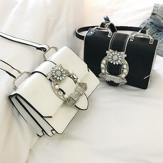 Fashion Designer Famous Bags For Women Designer Diamond Lock Bags Quality PU Leather Women Handbags Elegant Lady Shoulder Bags