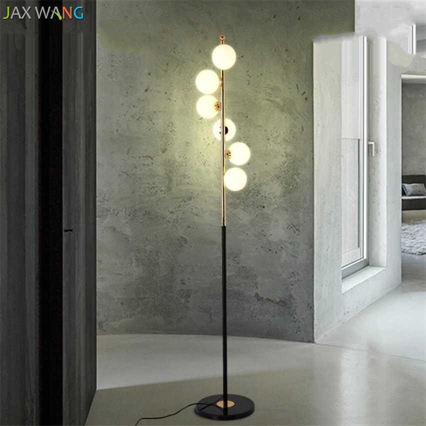 Us 203 01 18 Off Modern Nordic Led Designer Floor Lamps For Living Room Creative Bubble Glass Decor Standing Lights Study Bedroom Stand Tall Lamp In