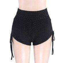 2019 Sexy Black Women Yoga  Push Up Fitness  Legging High Waist Gym Trunks Running Tight Sportswear Striped Underwear