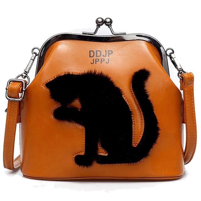 2017 Women Party Cat Bag Ladies Cross Body Women Bags Shoulder & Handbags Messenger Bags Female Leather Shoulder Bags