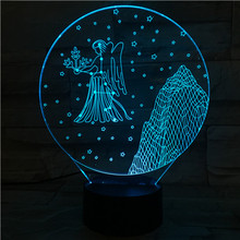 Western zodiac signs Table Lamp desk Touch Sensor 7 Color Changing Childrens Kids Baby Nightlight Gift Virgo Night Light LED