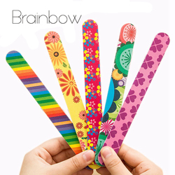 Brainbow 5pc lot colorful sanding nail file printed double sided nail art manicure sanding file buffer.jpg 250x250