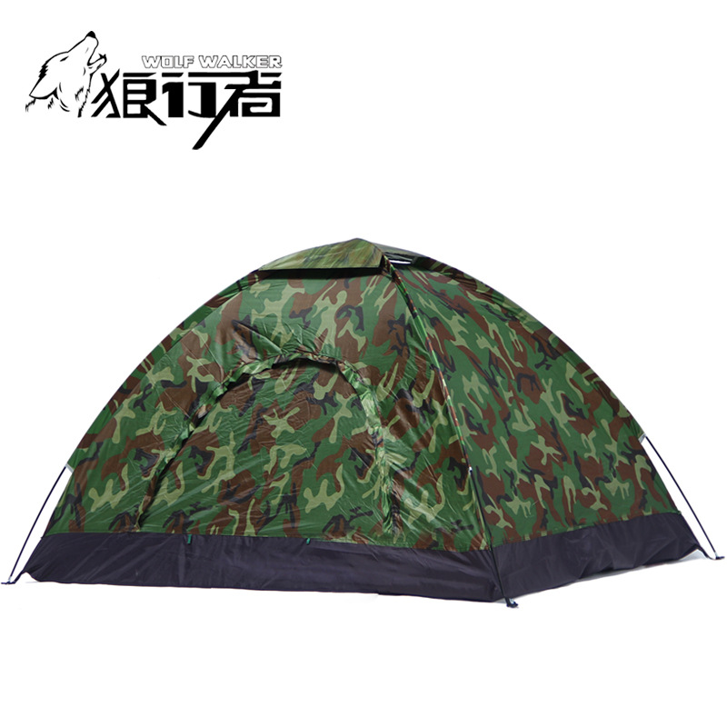 4 people camping Tent Portable Single Layer carpas 4 Person outdoor Waterproof Beach barraca Camouflage Tents 200*200cm outdoor 8 12 person tunnel big beach tent single layer portable large waterproof awning camping tente family free shipping zp98