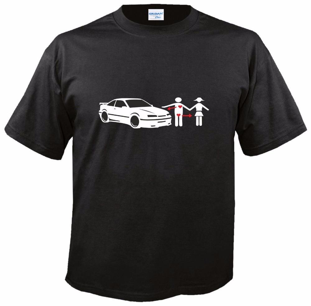2018 Hot Sale Super Fashion Black T Shirt I-Love For Calibra A 2.0 16V 4X4 Turbo Size: M - 3Xlmuscle Mens Tee Shirts