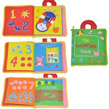 The Counting Book Soft Cloth Baby Learning Education Book Fabric Book Infant Early Education Cloth Books