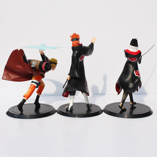 3 Pcs Naruto Uzumaki With Friend