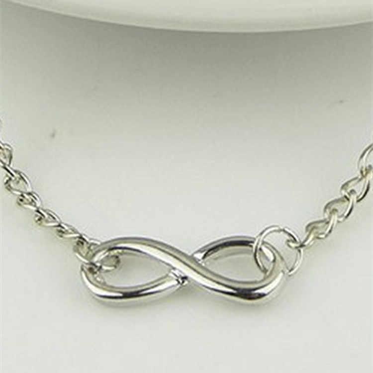 2018 nowych moda bransoletka nieskończoność dla kobiet bransoletka numer 8 bransoletka osiem kształt Charm bransoletki bransoletki dla kobiet Pulseras