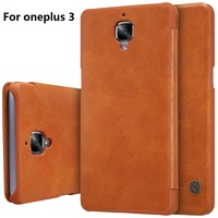 NILLKIN Oneplus 3 Case Smart Wake Up Qin Series Wallet Leather Case Cover For Oneplus 3