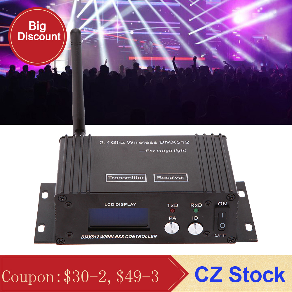 2 4G Wireless Dmx 512 Controller Transmitter Receiver Lcd Display Dmx Controller Repeater Disco Light Led