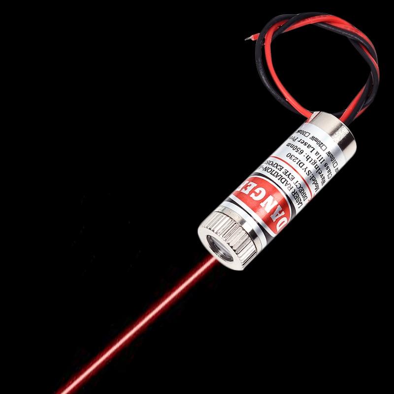 Ligne rouge Module Laser Nivel Laser 5mW 650nm Focus tête Laser réglable 5V qualité industrielle bricolage Laser tube Laser ligne Module