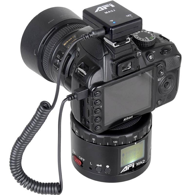 AFI Ma2 Алюминий светодиодный электронный панорама глава промежуток времени панорамные штативные для Камера/телефон стабилизатор вращения д...