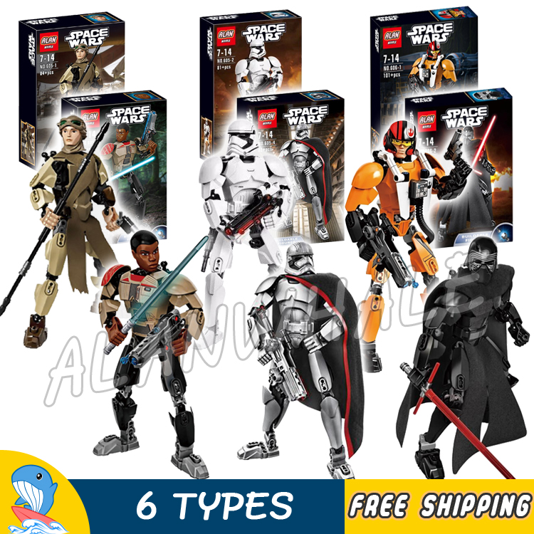 6types Space Wares The First Order Commander Battle Figres Lightsaber Soldier Model Building Blocks Toy Set Compatible With Lego