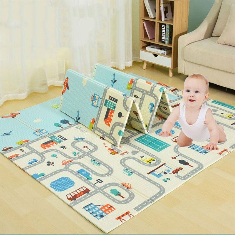 Tapis de jeu bébé Xpe Puzzle 200CM X 150CM X 1CM tapis de développement pour enfants bébé chambre ramper Pad tapis pliable pour enfants tapis