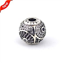 FANDOLA 925 Sterling-Silver-Jewelry Balance Essence Beads for Women DIY Fits Smaller and Thinner Essence Bracelet Charms FE013