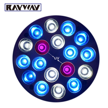 Rayway E27 2UV 10Blue 6White LED Coral Reef Grow Light High Power Fish Tank bulb Lamp LED Aquarium Light