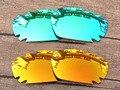Изумрудно-Зеленый и Красный 2 Пар Зеркало Поляризованных Сменные Линзы Для Jawbone Вентилируемый Солнцезащитные Очки Кадров 100% UVA и UVB Защиты