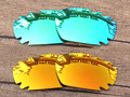 Emerald Green & Red 2 Pairs Mirror Polarized Replacement Lenses For Jawbone Vented Sunglasses Frame 100% UVA & UVB Protection