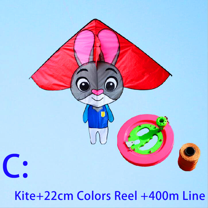 Free Shipping High Quality Lovely Rabbit Kite Reel Line Ripstop Nylon Fabric Kite Flying Toys Layangan Ladybug 3d Kite Wholesale