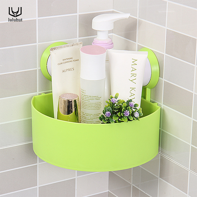 Luluhut Suction Cup Bathroom Shelf Basket Rack Wall Hanging Storage Box Accessories