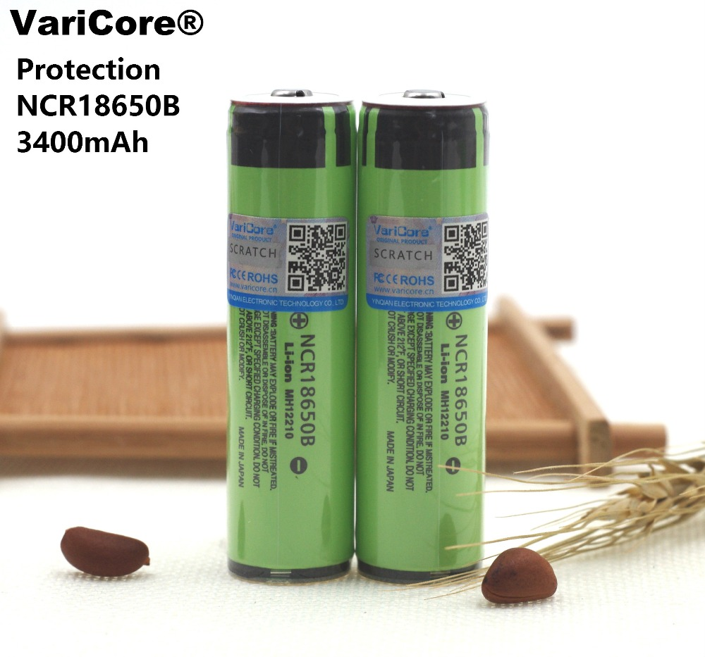 1PCS New Protected 100% Original 18650 Rechargeable battery NCR18650B 3400mAh with PCB 3.7V  Free Shipping varicore new original 18650 ncr18650b rechargeable li ion battery 3 7v 3400mah for panasonic flashlight use free shipping
