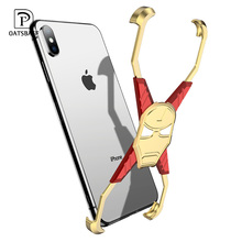 OATSBASF Iron Man Metal Case X Shape design case For iPhone XS Shockproof Mobile Phone MAX