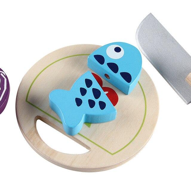 Holz Schneiden Obst Fisch Küche Spielzeug kinder Pädagogisches ...