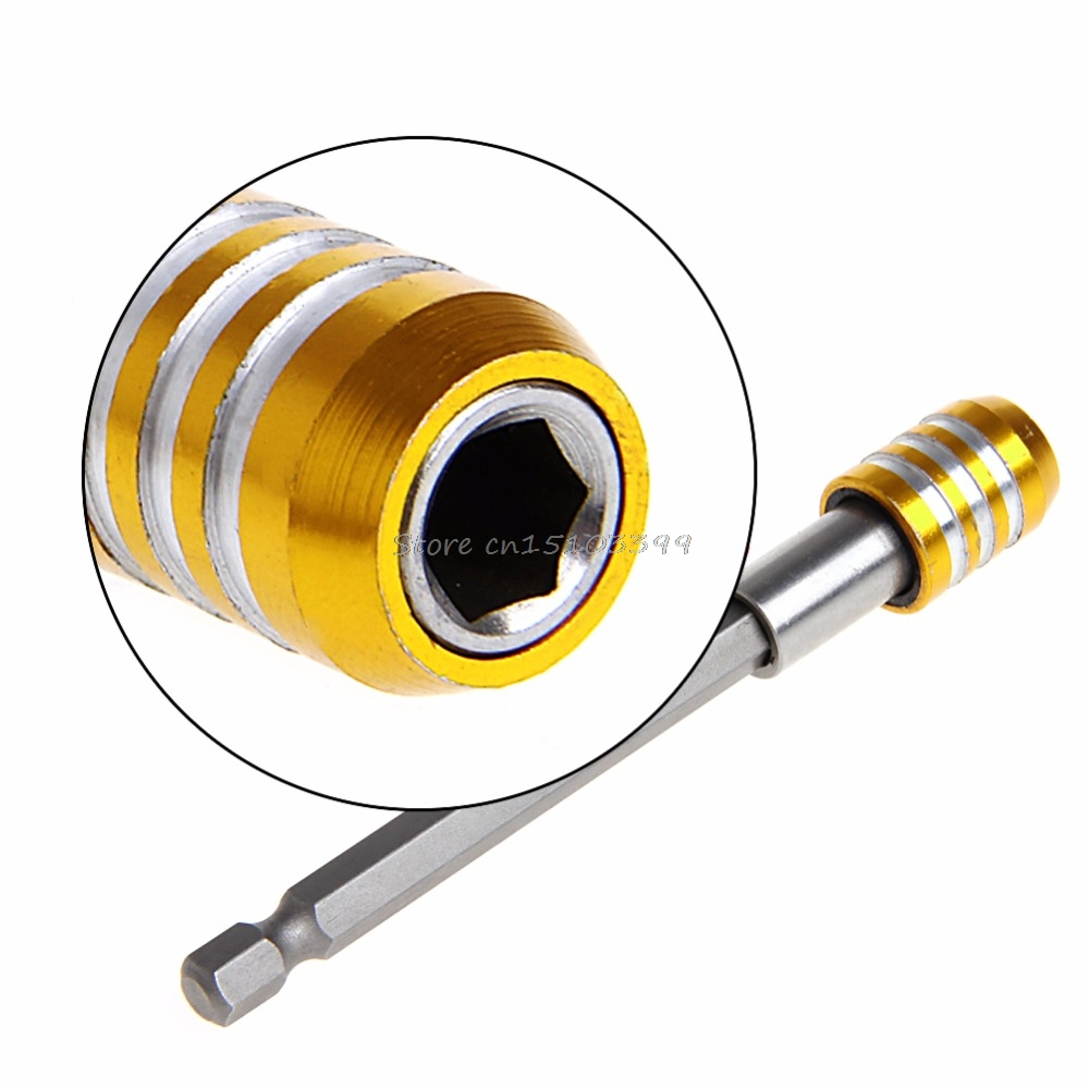 60/100/150mm Magnetic Hex Shank Quick Release Drill Bit Screwdriver Screw Holder #G205M# Best Quality 1 4 magnetic hex shank drywall screw bit holder dimpler drilling screw tool 60mm electric drill screw adapter