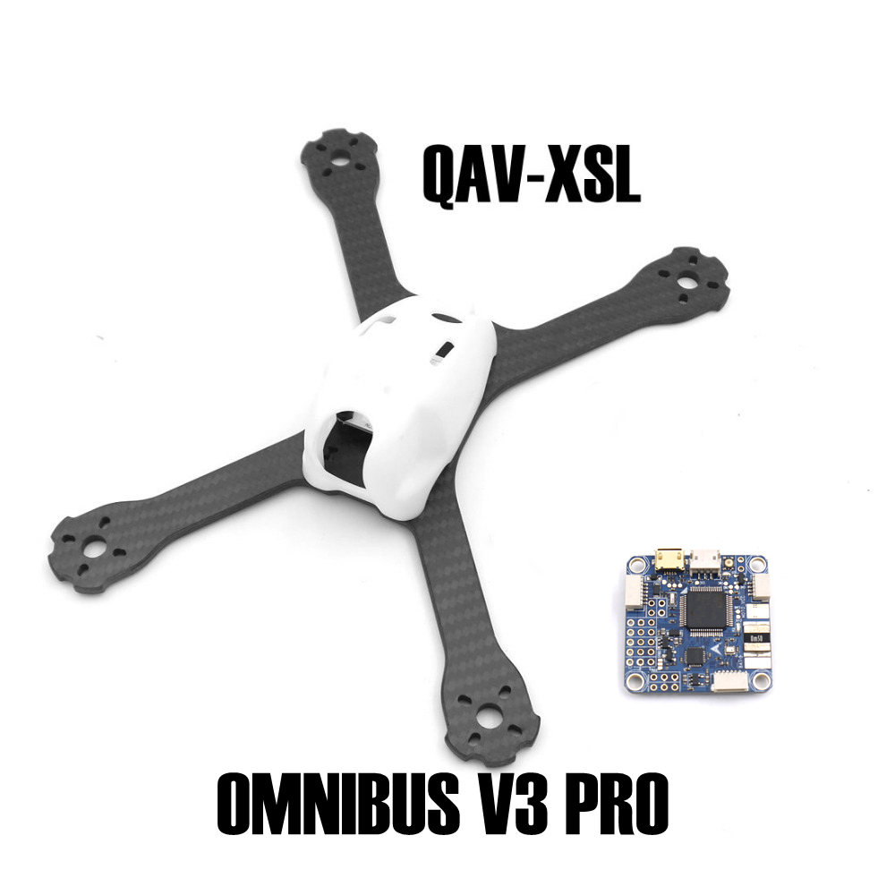 QAV-XS Carbon Fiber 220 220mm Stretch-X with PC shell and FLIP 32 F4 OMNIBUS V3 PRO Flight Controller Board for Drone Quadcopter x force omnibus volume 1
