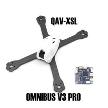 QAV-XS Carbon Fiber 220 220mm Stretch-X with PC shell and FLIP 32 F4 OMNIBUS V2 PRO Flight Controller Board for Drone Quadcopter zndiy bry crius all in one pro flight controller v2 0 lastest ver pirate mwc arduplaneng