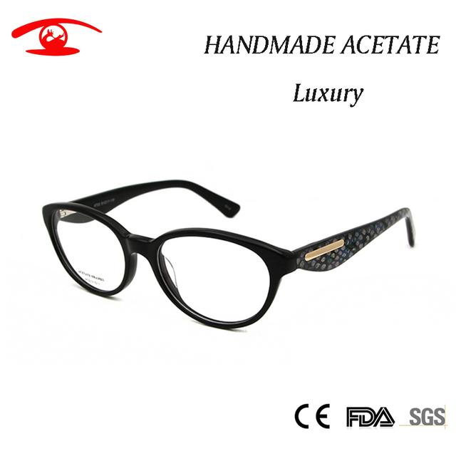 Alta Moda Mulheres Vidros Ópticos Quadro Do Gato Óculos Espetáculo Fêmea de Luxo Do Vintage Óculos de Armação de Lente Clara