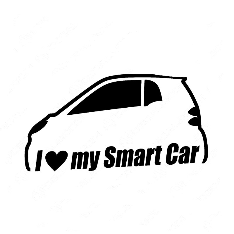 12 8cm 7cm i love my smart car bumper window vinyl sticker