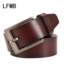 [LFMB] 2018 Fashion Mens belt Luxury Strap Cow Genuine Leather Male Belts for Men  Vintage Pin Buckle Belt Man ceinture homme