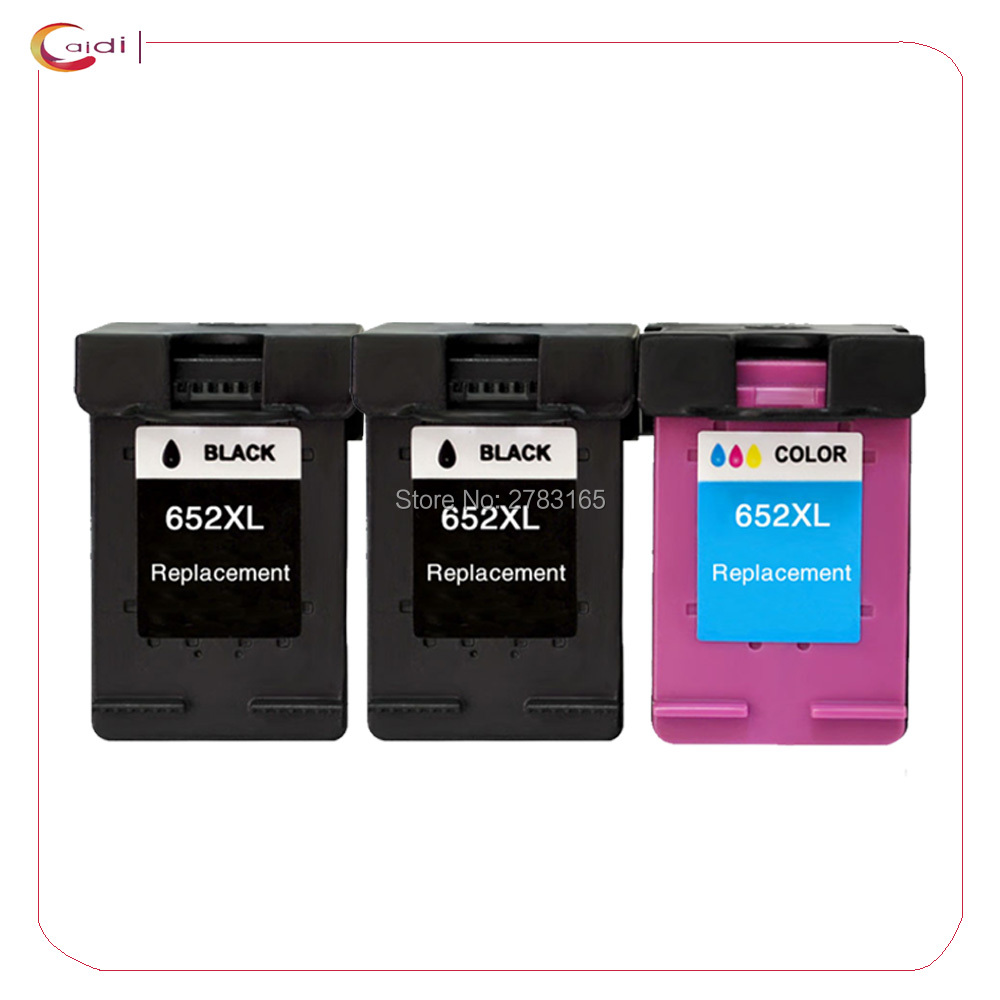 3Pack (2bk,1c) For <font><b>HP</b></font> 652 XL <font><b>Ink</b></font> Cartridges For <font><b>HP</b></font> 652 DeskJet <font><b>ink</b></font> advantage <font><b>1115</b></font> 2135 3635 1118 2138 3636 3638 printer <font><b>ink</b></font> image