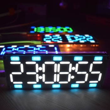 DIY Large Screen 6 Digit Two-Color LED Clock Kit Touch Control w  Temp/Date/Week