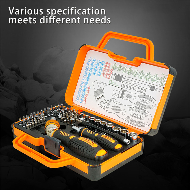 JM-6111 appliance repair screwdriver set 69 in 1 Professional screwdriver set mobile phone repair digital service combination screwdriver combination repair kit to disassemble the apple digital multifunction mobile phone screwdriver