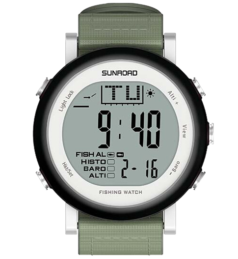 Top Deals SunRoad Fishing Watch Weather Forecast Altimeter Barometer Thermometer Outdoor Climbing Watch Waterproof Men Sports