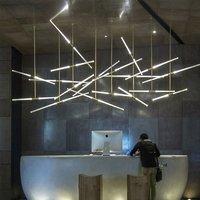 Creative Gold Crystal Libra Pendant Light 220V LED Bubble hanging lamp for Hotel Restaurant Office