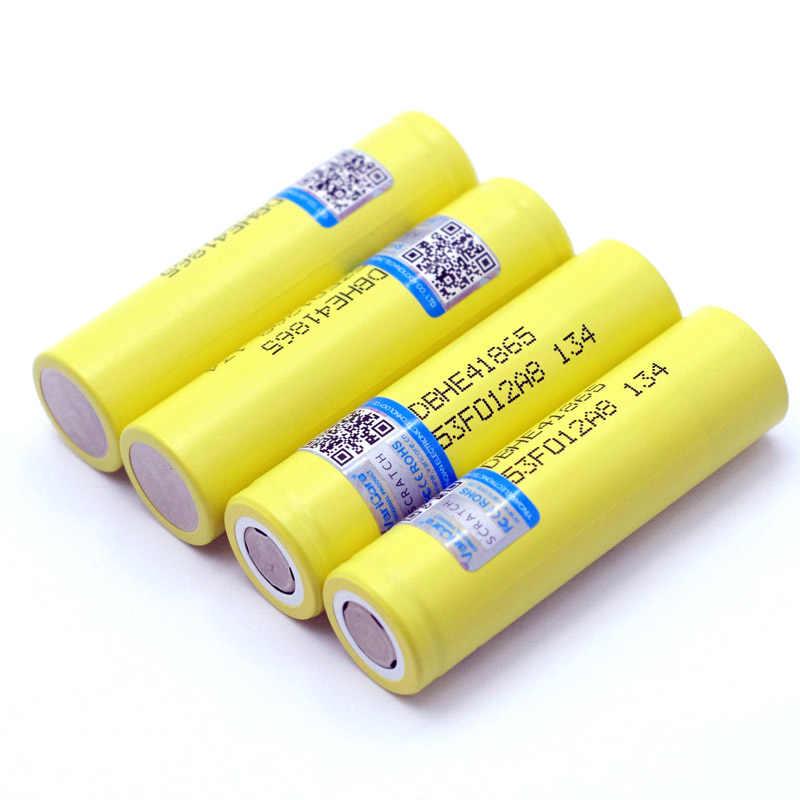 新オリジナル HE4 2500mAh リチウム経度バッテリー 18650 3.7 5v 電源充電式電池最大 20A 、 35A 放電 E タバコ