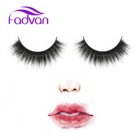 Fadvan False Eyelashes 1 Pair Handmade Fake Lashes Soft Natural Long Eye Lashes Extension Professional Makeup