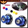 8 MM Azul CNC Basculante Basculante Sliders Carretes Para Suzuki GSXR600/GSXR 750 2006-2010 1000 1300 HAYABUSA Sv650 TL1000