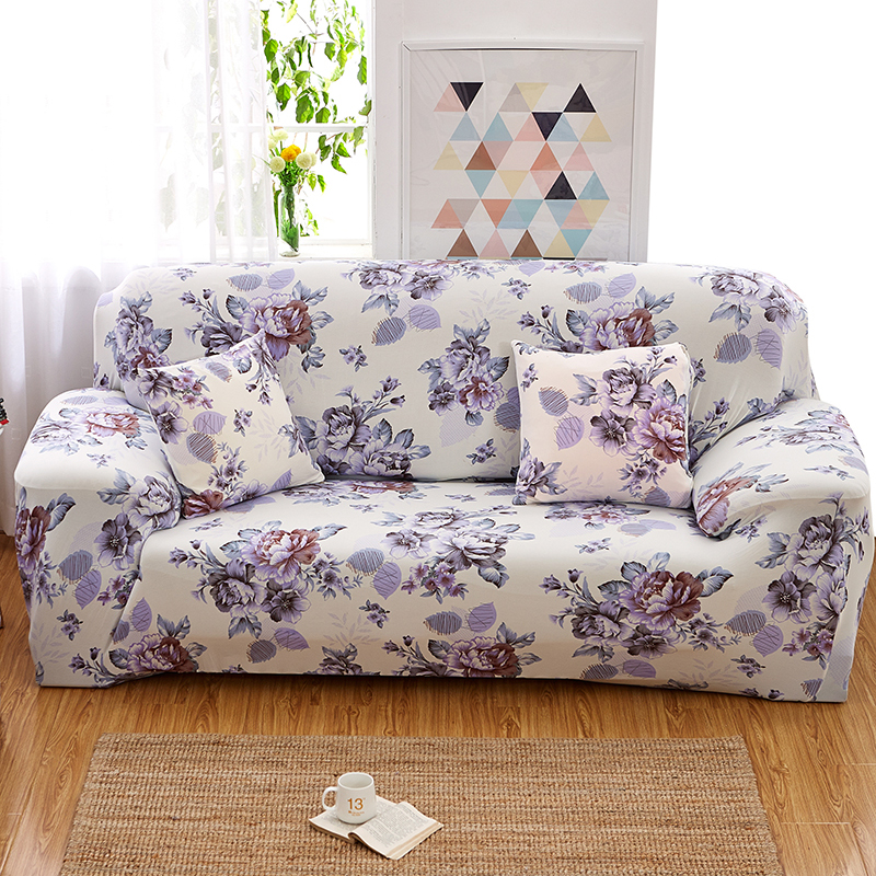 Florals Elastic Slipcover Sectional Sofa Covers Stretch Polyester All-inclusive Sofa Towel Sofa Cushion L-Style Sofa Case30