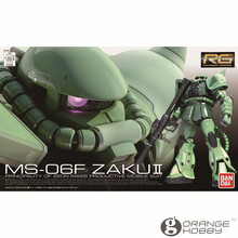OHS Bandai RG 04 1/144 MS 06F Zaku II Kits de modelos de montaje de traje móvil oh