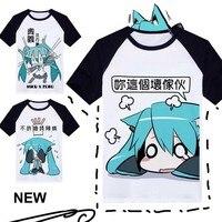 New Vocaloid Hatsune Miku T Shirt Japan Anime Cosplay T Shirt Fashion Polyester Summer Hot Tees